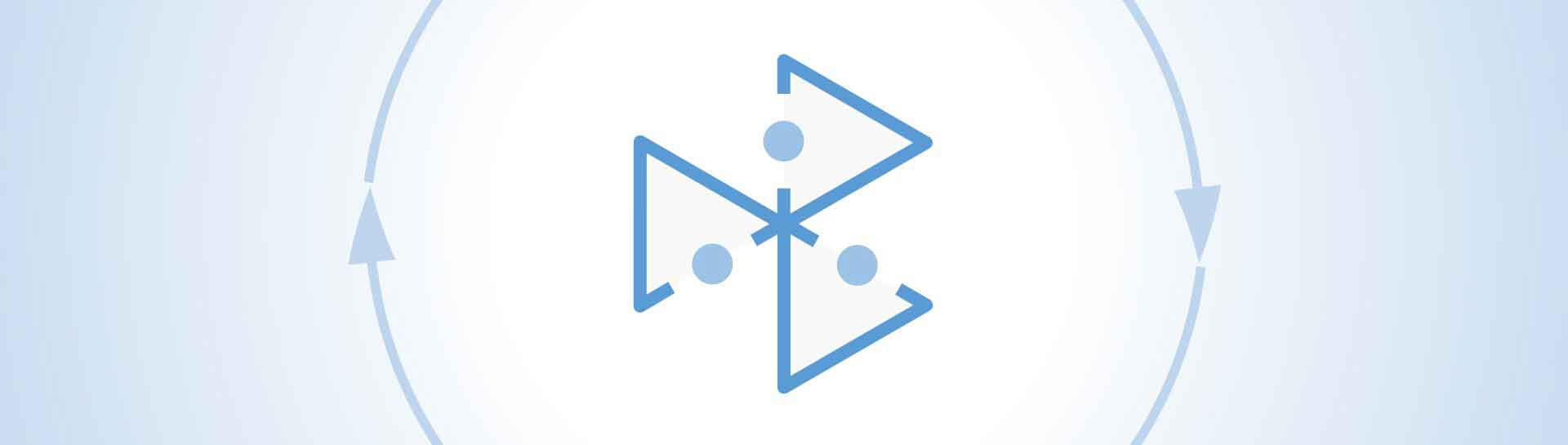 logo of GeoChemTec within circle of two light blue arrows